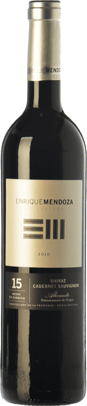 12,95 € Free Shipping | Red wine Enrique Mendoza Syrah-Cabernet Reserva D.O. Alicante Valencian Community Spain Syrah, Cabernet Sauvignon Bottle 75 cl