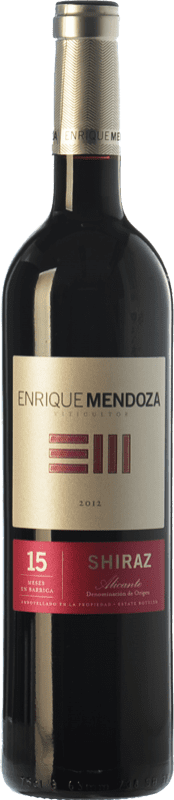 14,95 € Free Shipping | Red wine Enrique Mendoza Joven D.O. Alicante Valencian Community Spain Syrah Bottle 75 cl