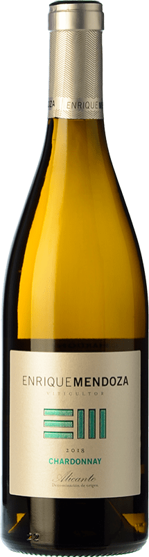 9,95 € Free Shipping | White wine Enrique Mendoza Joven D.O. Alicante Valencian Community Spain Chardonnay Bottle 75 cl