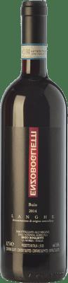 33,95 € Free Shipping | Red wine Enzo Boglietti Buio D.O.C. Langhe Piemonte Italy Nebbiolo, Barbera Bottle 75 cl