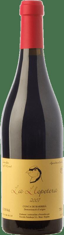 25,95 € Free Shipping | Red wine Escoda Sanahuja La Llopetera Joven D.O. Conca de Barberà Catalonia Spain Pinot Black Bottle 75 cl