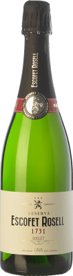 9,95 € Free Shipping | White sparkling Escofet Rosell 1731 Brut Reserva D.O. Cava Catalonia Spain Pinot Black, Macabeo, Xarel·lo, Chardonnay, Parellada Bottle 75 cl | Thousands of wine lovers trust us to get the best price guarantee, free shipping always and hassle-free shopping and returns.
