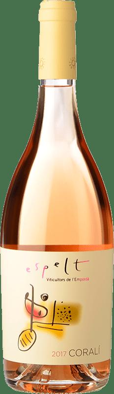 6,95 € Free Shipping | Rosé wine Espelt Coralí Rosat D.O. Empordà Catalonia Spain Merlot, Grenache, Cabernet Sauvignon Bottle 75 cl