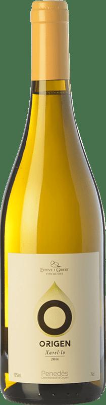 9,95 € Envío gratis | Vino blanco Esteve i Gibert Origen D.O. Penedès Cataluña España Xarel·lo Botella 75 cl