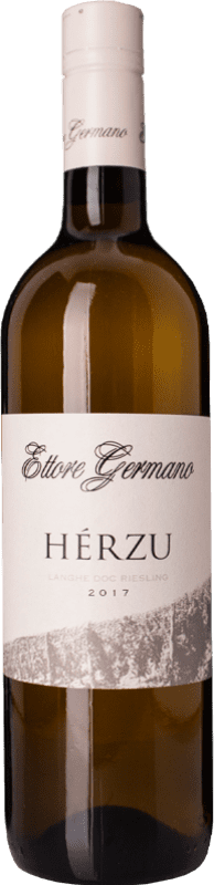 24,95 € Free Shipping | White wine Ettore Germano Herzu D.O.C. Langhe Piemonte Italy Riesling Bottle 75 cl