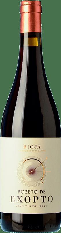 7,95 € Free Shipping | Red wine Exopto Bozeto Joven D.O.Ca. Rioja The Rioja Spain Tempranillo, Grenache, Graciano Bottle 75 cl