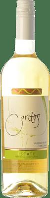 16,95 € Free Shipping | White wine Otero Ramos Gritos Estate Sauvignon Blanc-Chardonnay I.G. Mendoza Mendoza Argentina Chardonnay, Sauvignon White Bottle 75 cl