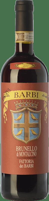 69,95 € Envoi gratuit | Vin rouge Fattoria dei Barbi Riserva Reserva D.O.C.G. Brunello di Montalcino Toscane Italie Sangiovese Bouteille 75 cl