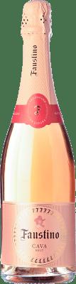 8,95 € Kostenloser Versand | Rosé Sekt Faustino Brut D.O. Cava Katalonien Spanien Grenache Flasche 75 cl