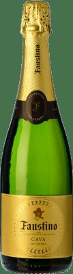 8,95 € Kostenloser Versand | Weißer Sekt Faustino Brut Reserva D.O. Cava Katalonien Spanien Macabeo, Chardonnay Flasche 75 cl