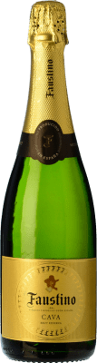 6,95 € Free Shipping | White sparkling Faustino Brut Reserva D.O. Cava Catalonia Spain Macabeo, Chardonnay Bottle 75 cl. | Thousands of wine lovers trust us to get the best price guarantee, free shipping always and hassle-free shopping and returns.