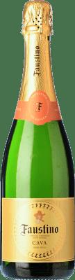 7,95 € Kostenloser Versand | Weißer Sekt Faustino Trocken Joven D.O. Cava Katalonien Spanien Macabeo, Chardonnay Flasche 75 cl