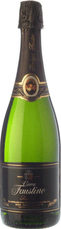 7,95 € Free Shipping | White sparkling Faustino Dry Joven D.O. Cava Catalonia Spain Macabeo, Chardonnay Bottle 75 cl