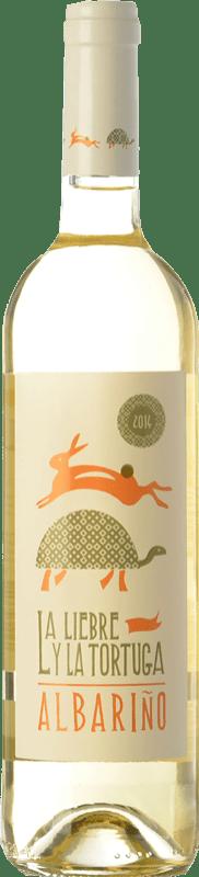 9,95 € Free Shipping | White wine Fento La Liebre y la Tortuga D.O. Rías Baixas Galicia Spain Albariño Bottle 75 cl