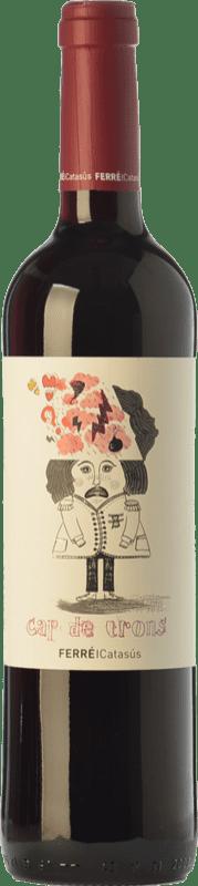 8,95 € Free Shipping | Red wine Ferré i Catasús Cap de Trons Joven D.O. Penedès Catalonia Spain Merlot, Syrah, Cabernet Sauvignon Bottle 75 cl