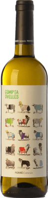 6,95 € Free Shipping | White wine Ferré i Catasús Compta Ovelles Blanc D.O. Penedès Catalonia Spain Xarel·lo, Chardonnay, Sauvignon White Bottle 75 cl. | Thousands of wine lovers trust us to get the best price guarantee, free shipping always and hassle-free shopping and returns.