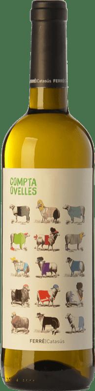 6,95 € Envio grátis | Vinho branco Ferré i Catasús Compta Ovelles Blanc D.O. Penedès Catalunha Espanha Xarel·lo, Chardonnay, Sauvignon Branca Garrafa 75 cl