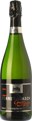 15,95 € Free Shipping | White sparkling Ferret Guasch Brut Nature Gran Reserva 2009 D.O. Cava Catalonia Spain Macabeo, Xarel·lo, Parellada Bottle 75 cl. | Thousands of wine lovers trust us to get the best price guarantee, free shipping always and hassle-free shopping and returns.