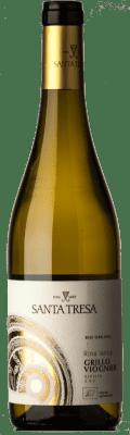 14,95 € Free Shipping | White wine Feudo di Santa Tresa Rina Lanca I.G.T. Terre Siciliane Sicily Italy Viognier, Grillo Bottle 75 cl