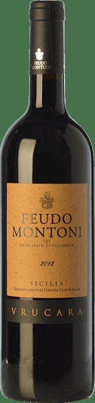 38,95 € Free Shipping | Red wine Feudo Montoni Vrucara I.G.T. Terre Siciliane Sicily Italy Nero d'Avola Bottle 75 cl