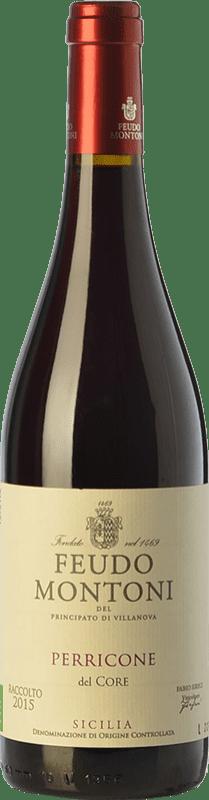 14,95 € Envío gratis | Vino tinto Feudo Montoni I.G.T. Terre Siciliane Sicilia Italia Perricone Botella 75 cl