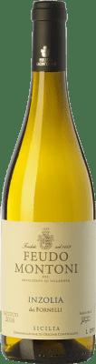 12,95 € Free Shipping | White wine Feudo Montoni Inzolia dei Fornelli I.G.T. Terre Siciliane Sicily Italy Insolia Bottle 75 cl