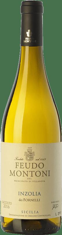12,95 € Envío gratis | Vino blanco Feudo Montoni Inzolia dei Fornelli I.G.T. Terre Siciliane Sicilia Italia Insolia Botella 75 cl