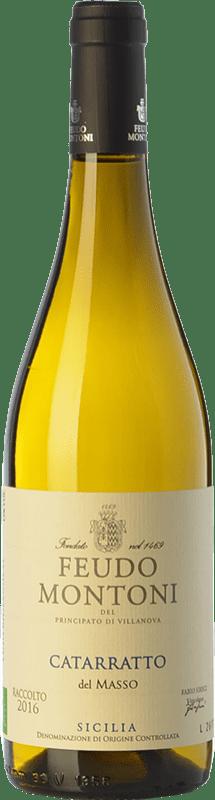 13,95 € Free Shipping | White wine Feudo Montoni Catarratto del Masso I.G.T. Terre Siciliane Sicily Italy Catarratto Bottle 75 cl