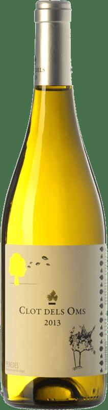 7,95 € Envío gratis | Vino blanco Ca N'Estella Clot dels Oms Blanc D.O. Penedès Cataluña España Malvasía, Chardonnay Botella 75 cl