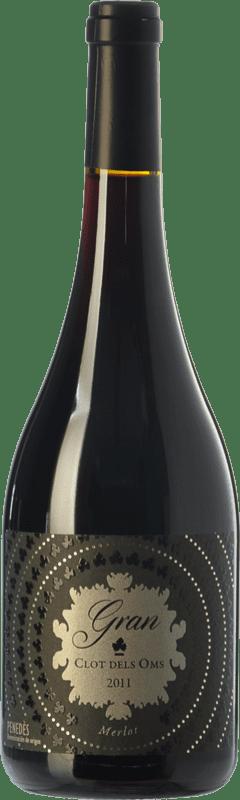 14,95 € Free Shipping | Red wine Ca N'Estella Gran Clot dels Oms Merlot Crianza D.O. Penedès Catalonia Spain Merlot, Cabernet Sauvignon Bottle 75 cl