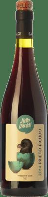 5,95 € Free Shipping | Red wine Finca La Estacada Hello World Joven I.G.P. Vino de la Tierra de Castilla Castilla la Mancha Spain Prieto Picudo Bottle 75 cl