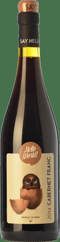 4,95 € Envío gratis | Vino tinto Finca La Estacada Hello World Joven I.G.P. Vino de la Tierra de Castilla Castilla la Mancha España Cabernet Franc Botella 75 cl