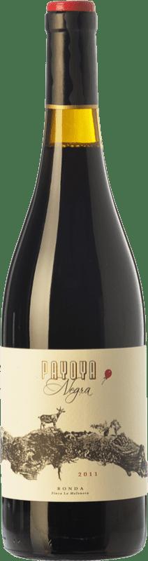 15,95 € Envío gratis | Vino tinto Finca La Melonera Payoya Negra Crianza D.O. Sierras de Málaga Andalucía España Syrah, Garnacha, Tintilla de Rota Botella 75 cl