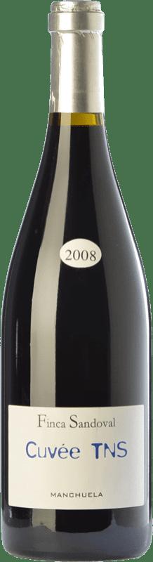 31,95 € Free Shipping | Red wine Finca Sandoval Cuvée TNS Crianza D.O. Manchuela Castilla la Mancha Spain Syrah, Touriga Nacional Magnum Bottle 1,5 L