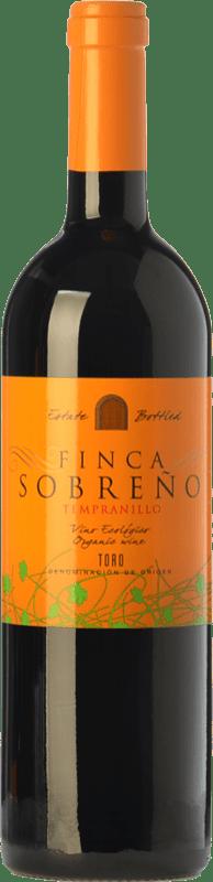 10,95 € Free Shipping | Red wine Finca Sobreño Ecológico Joven D.O. Toro Castilla y León Spain Tinta de Toro Bottle 75 cl