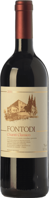 29,95 € Free Shipping | Red wine Fontodi D.O.C.G. Chianti Classico Tuscany Italy Sangiovese Bottle 75 cl
