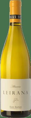 13,95 € Envío gratis | Vino blanco Forjas del Salnés Leirana Crianza D.O. Rías Baixas Galicia España Albariño Botella 75 cl