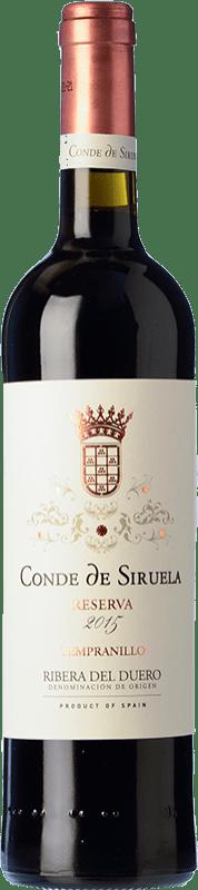 22,95 € Free Shipping | Red wine Frutos Villar Conde Siruela Reserva D.O. Ribera del Duero Castilla y León Spain Tempranillo Bottle 75 cl