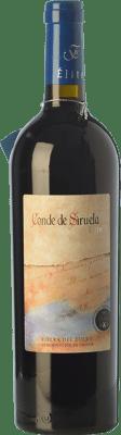 28,95 € Free Shipping | Red wine Frutos Villar Conde Siruela Élite Crianza D.O. Ribera del Duero Castilla y León Spain Tempranillo Bottle 75 cl