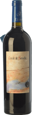 28,95 € Envoi gratuit | Vin rouge Frutos Villar Conde Siruela Élite Crianza D.O. Ribera del Duero Castille et Leon Espagne Tempranillo Bouteille 75 cl