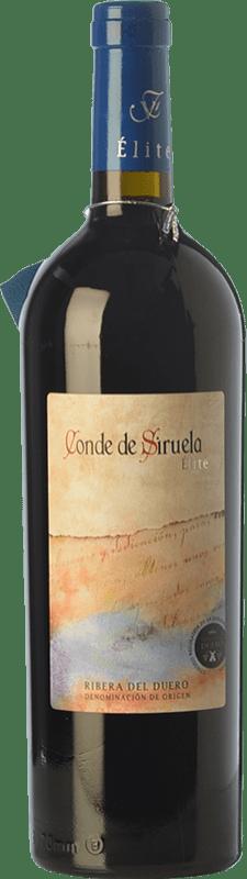28,95 € Envío gratis | Vino tinto Frutos Villar Conde Siruela Élite Crianza D.O. Ribera del Duero Castilla y León España Tempranillo Botella 75 cl