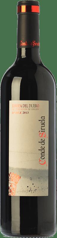 8,95 € Envío gratis | Vino tinto Frutos Villar Conde Siruela Roble D.O. Ribera del Duero Castilla y León España Tempranillo Botella 75 cl