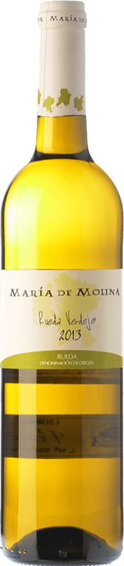 6,95 € Envoi gratuit   Vin blanc Frutos Villar María de Molina Verdejo D.O. Rueda Castille et Leon Espagne Viura, Palomino Fino, Verdejo Bouteille 75 cl