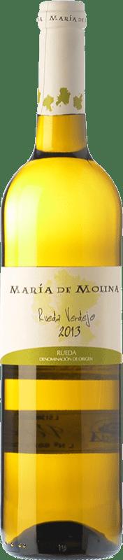 6,95 € Envío gratis | Vino blanco Frutos Villar María de Molina Verdejo D.O. Rueda Castilla y León España Viura, Palomino Fino, Verdejo Botella 75 cl