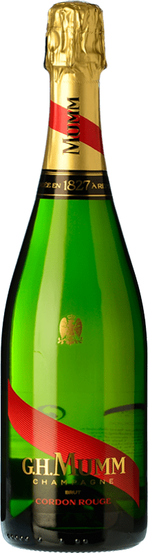 36,95 € Free Shipping | White sparkling G.H. Mumm Cordon Rouge A.O.C. Champagne Champagne France Pinot Black, Chardonnay, Pinot Meunier Bottle 75 cl