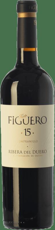 26,95 € Envío gratis | Vino tinto Figuero 15 Crianza D.O. Ribera del Duero Castilla y León España Tempranillo Botella 75 cl