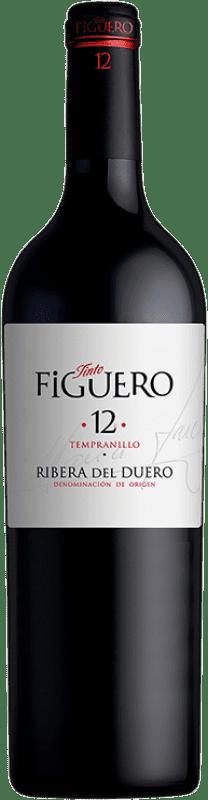 16,95 € Envío gratis | Vino tinto Figuero 12 Meses Crianza D.O. Ribera del Duero Castilla y León España Tempranillo Botella 75 cl