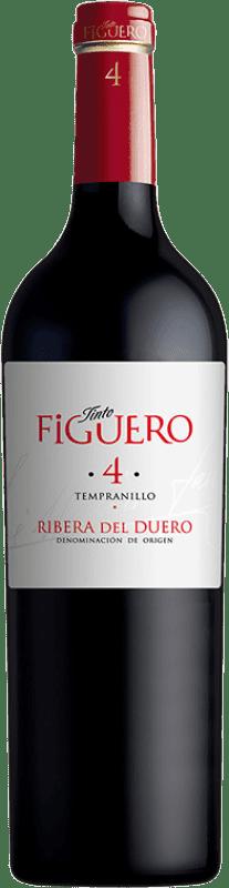 8,95 € Free Shipping | Red wine Figuero 4 Meses Joven D.O. Ribera del Duero Castilla y León Spain Tempranillo Bottle 75 cl