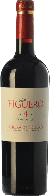 9,95 € Envío gratis | Vino tinto Figuero 4 Meses Joven D.O. Ribera del Duero Castilla y León España Tempranillo Botella 75 cl