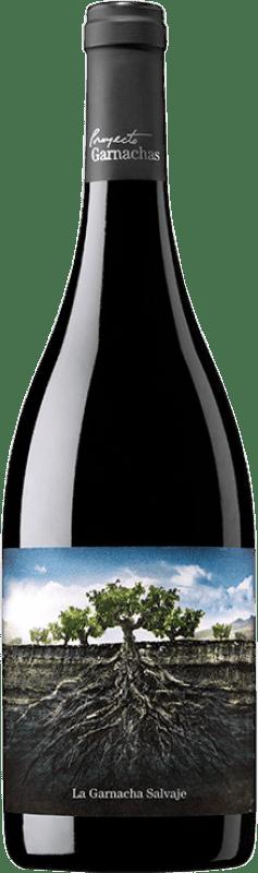 8,95 € Envío gratis | Vino tinto Garnachas de España La Salvaje del Moncayo Joven I.G.P. Vino de la Tierra Ribera del Queiles Aragón España Garnacha Botella 75 cl